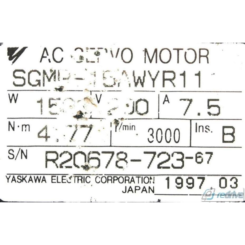 SGMP-15AWYR11 Yaskawa AC Servo Motor Sigma 200V 3000 rpm 1