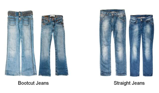 bootcut and straight jeans