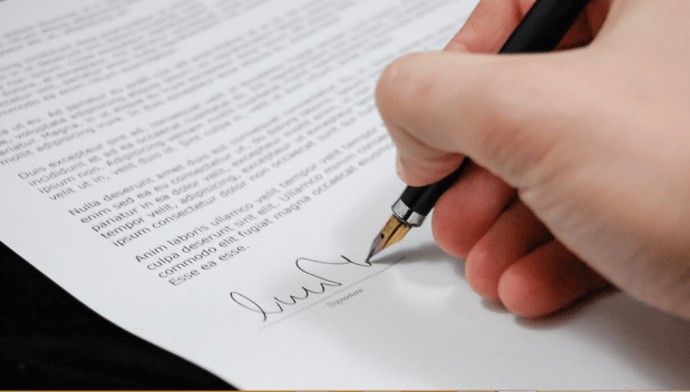 signing a document manually