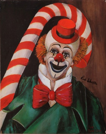 candy cane clown the