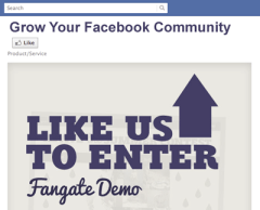 how to add fangate in facebook apps