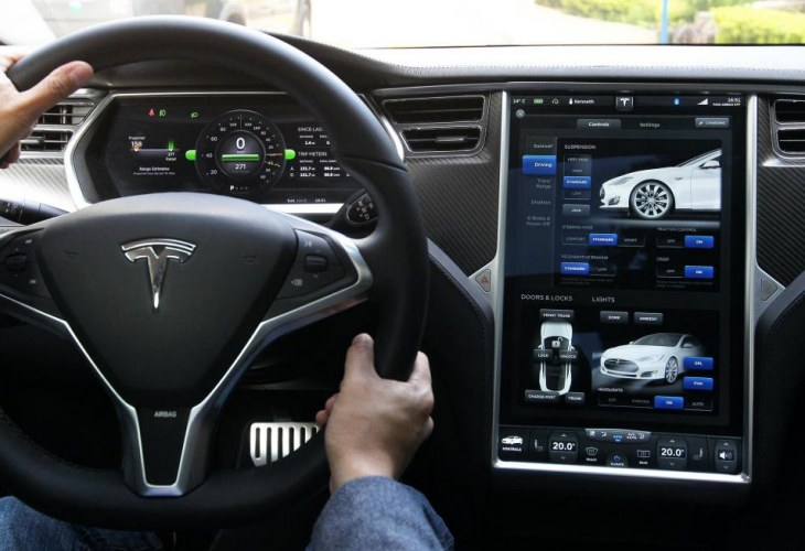 Tesla Model S Sedan Interior Design