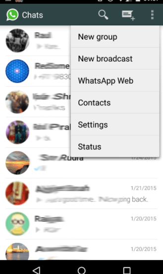 Navigate to WhatsApp Web option on Phone to scan the QR code.