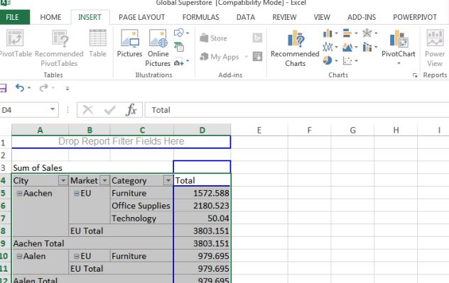 Interactive Excel Graph