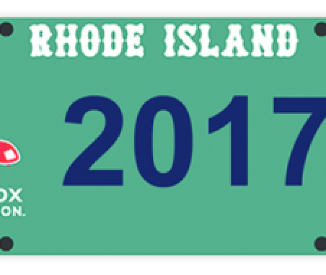 More Information About Requirements And Application Process For Ri Red Sox License Plate Is Available From The Rhode Island Division Of Motor Vehicles At