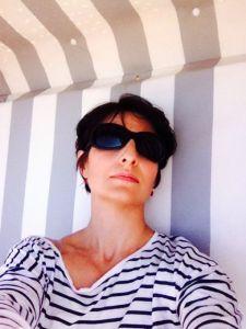 Streifen längs und quer: Im Strandkorb lässt es sich gut relaxen
