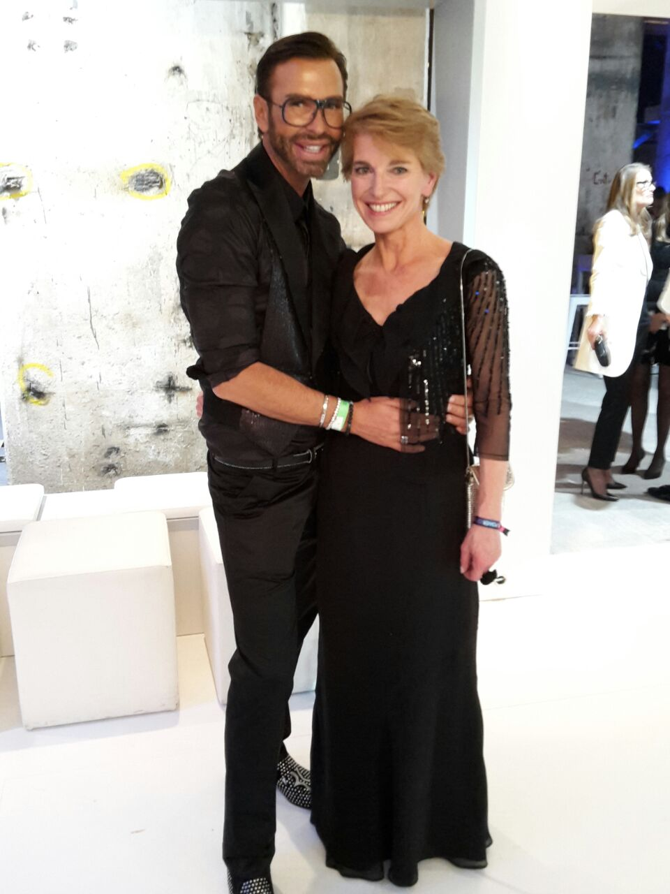 Susanne Stoll (redspa media) mit Peter Schmidigner Make-up-Artist Babor