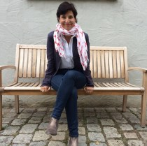 Franka Hänig bei ihrem Besuch im Kloster