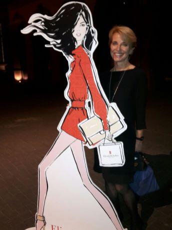 Susanne Stoll mit dem tollen Modell von Elizabeth Arden
