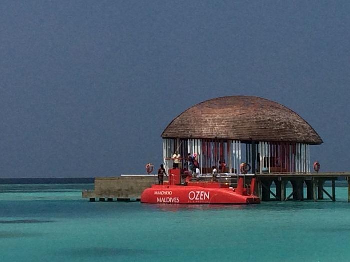Coole Sache: da U-Boot mit dem man die Unterwasserwelt erkunden kann.