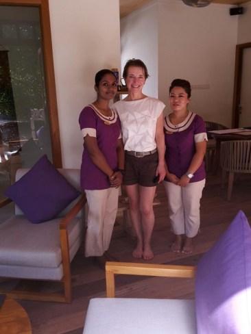Im Spa und im ganzen Resort arbeiten Menschen aus den verschiedensten Ländern und Kulturen. Rupa aus Nepal und Swadna aus Indien haben Susanne beim Treatment verwöhnt.