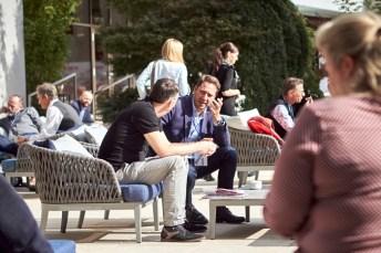 Networking im Freien - für redspa media war Sascha Bostan beim Spa Camp