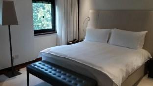 Die Betten im Como The Halkin sind außerordentlich bequem.