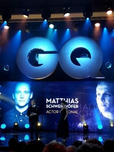 Auch Schauspieler Matthias Schweighöffer, Fussballstar a.D. Philipp Lahm, Musiker Marc Forster, die Männer-Models David Gandy (D&G Light Blue ) und Johannes Hübl gehörten zu den Preisträgern.