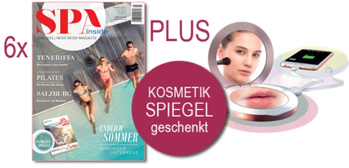 SPA inside Abo: Kosmetikspiegel als Geschenk