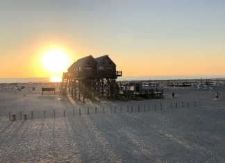 Am Strand in St. Peter-Ording.