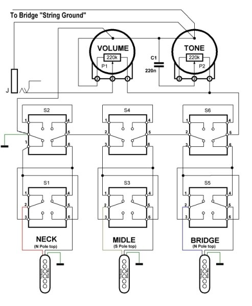 brian may red special wiring diagram