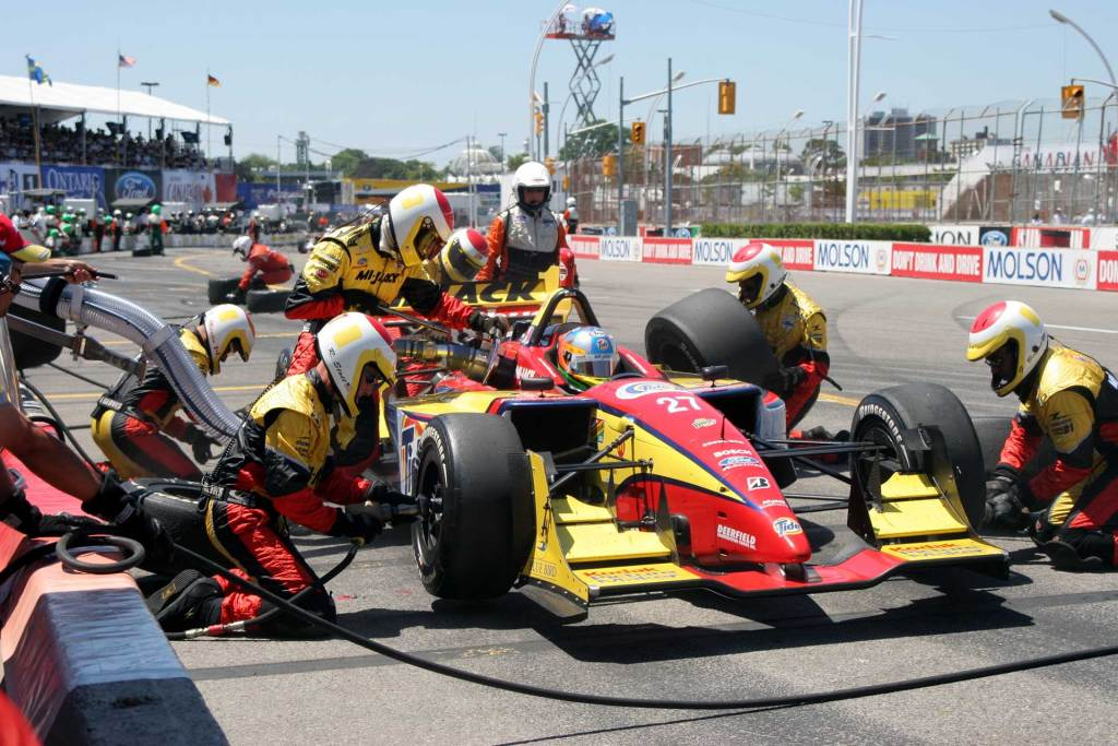 mijack conquest indy car pit stop