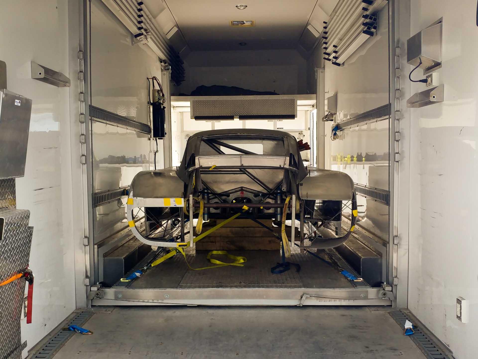 redstone porsche 935 fabrication in trailer
