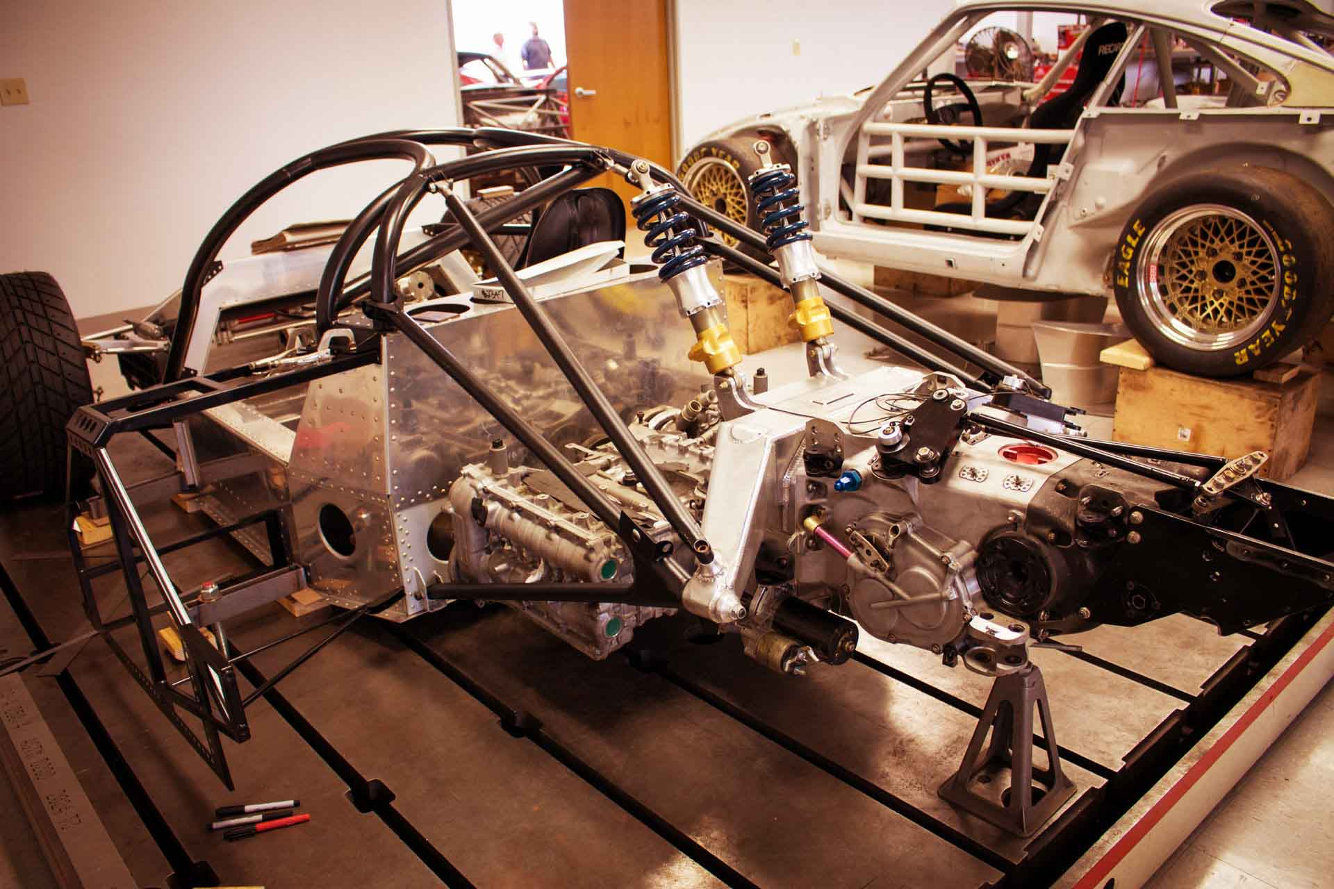 redstone porsche 962 fabrication
