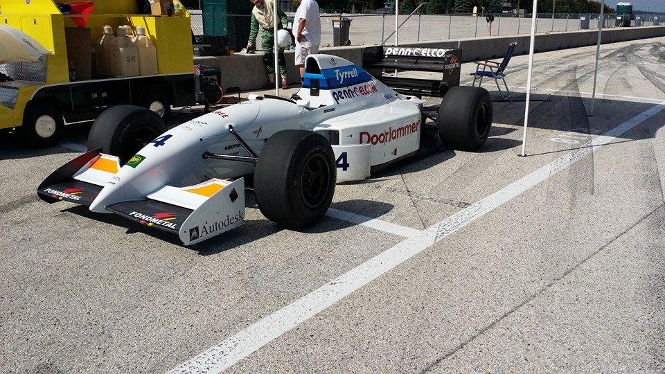 tyrrell formula 1 car at race track