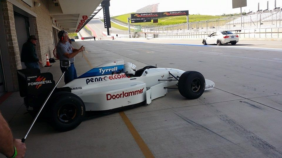 tyrrell formuala 1 car at race track