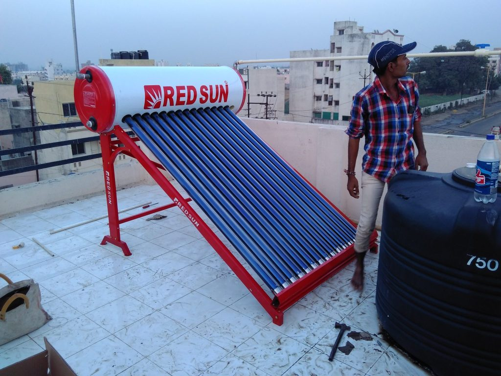 Tremendous Energy Saving from Solar Water heater in Chilly Winter