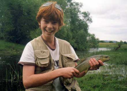 Jack's first wild brown trout