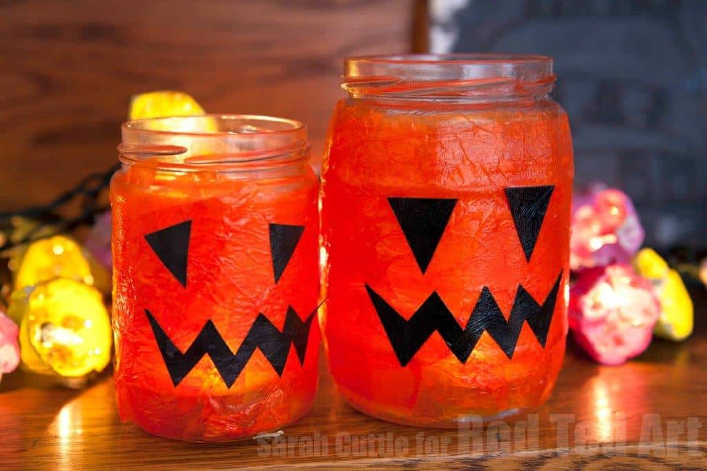 Easy Halloween Lanterns, by Red Ted Art