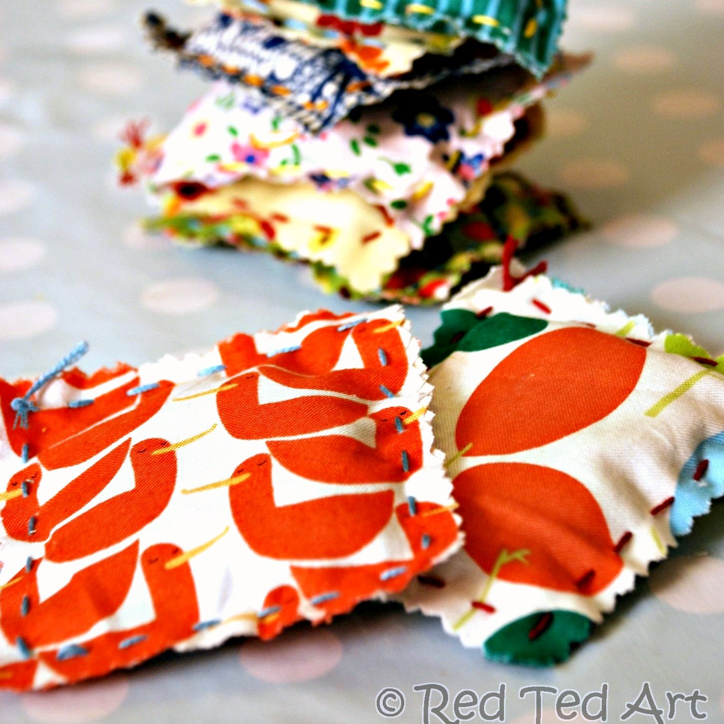 Kids Crafts Sewing with Kids Easy Lavender Bags  Red Ted Arts Blog
