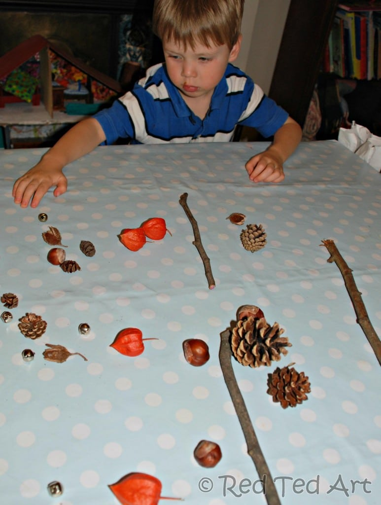 kids crafts autumn mobile