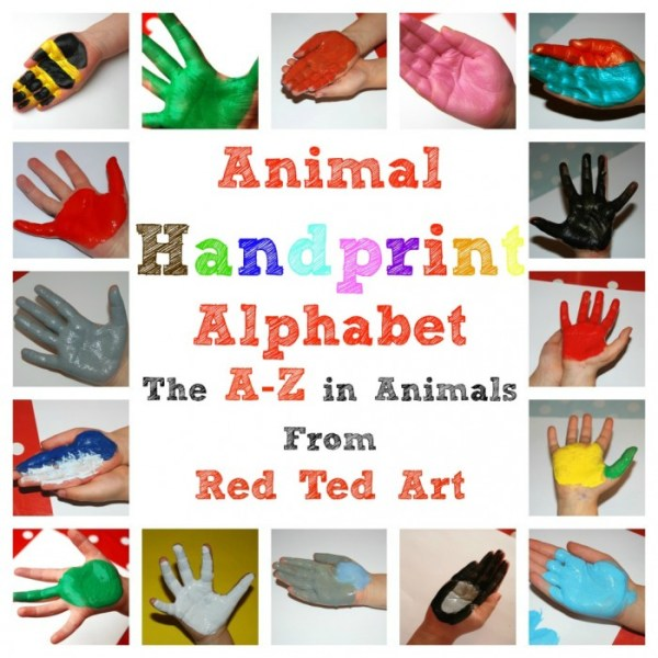 Handprint Animal Alphabet AZ