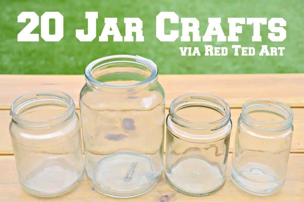 mason jar crafts red