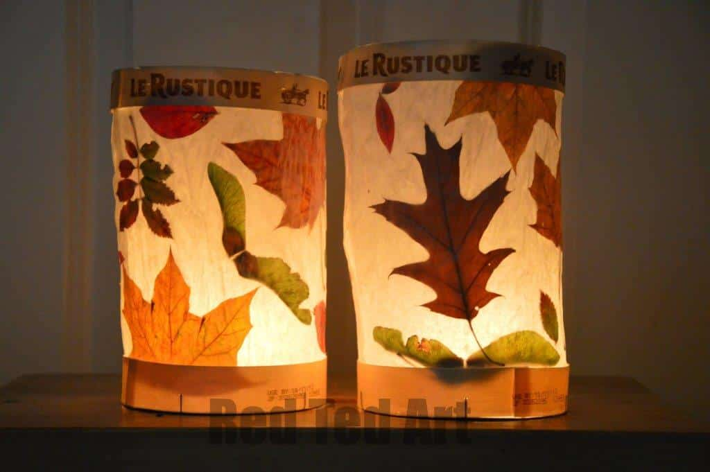 leaf lanterns red ted