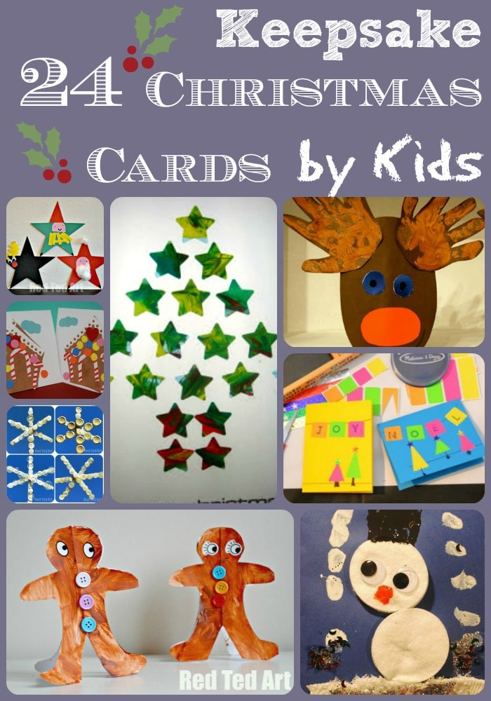 Christmas Card Ideas For Kids Red Ted Arts Blog