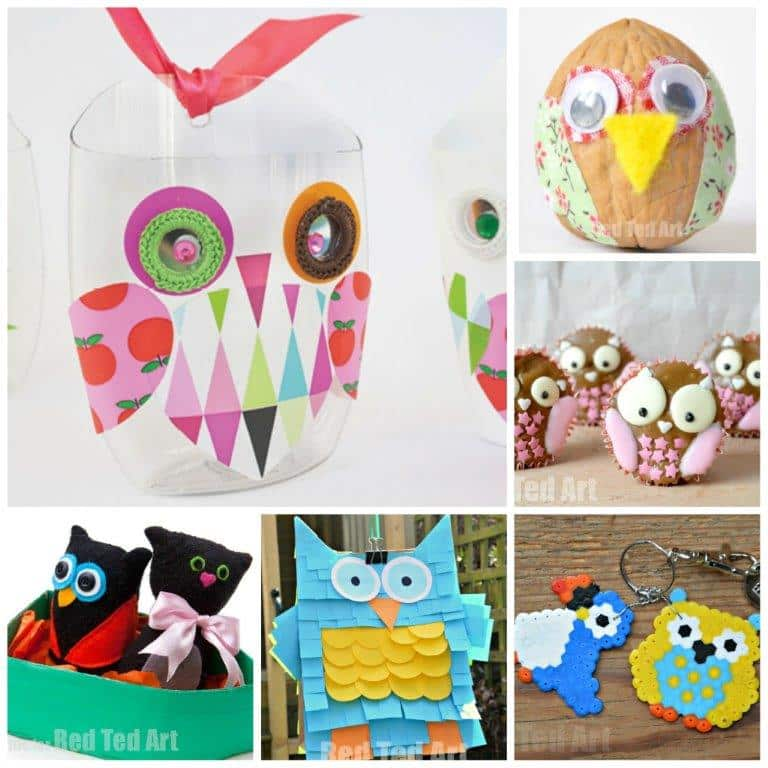 Cute And Easy Owl Crafts For Kids Red Ted Art Make Crafting With Kids Easy Fun