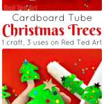 Toilet Paper Roll Christmas Tree Napkin Rings Ornaments Red Ted Art Make Crafting With Kids Easy Fun