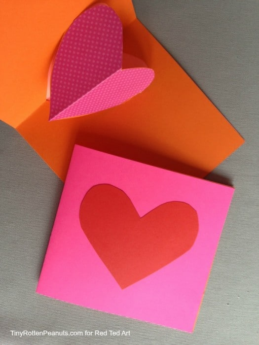 Valentines Day Cards Pop Out Heart Cards Red Ted Art