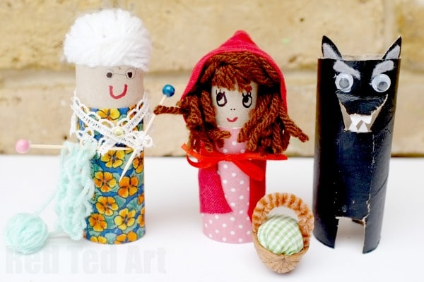 Toilet Paper Roll Little Red Riding Hood Craft  Red Ted Art