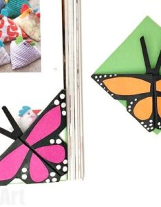 Easy butterfly bookmark corners we are hooked on making these different bookmarks so fun also crafts red ted art   blog rh redtedart