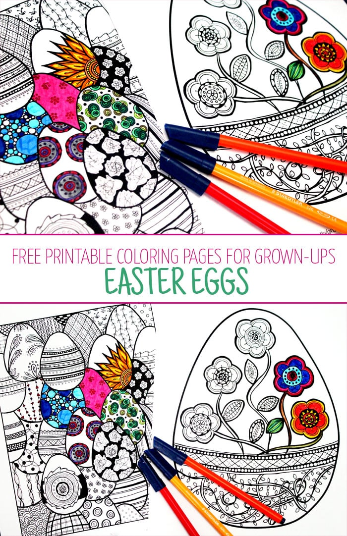 Easter Coloring Pages For Grown Ups Red Ted Arts Blog