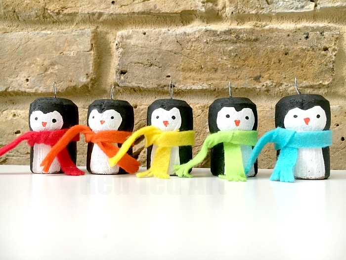 Rainbow Cork Penguin Ornaments Red Ted Arts Blog