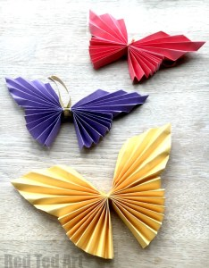 Easy paper butterfly origami beautiful butterflies for kids to make these look super also red ted art   blog rh redtedart