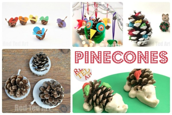 Nature Crafts Pine Cones Red Ted Arts Blog