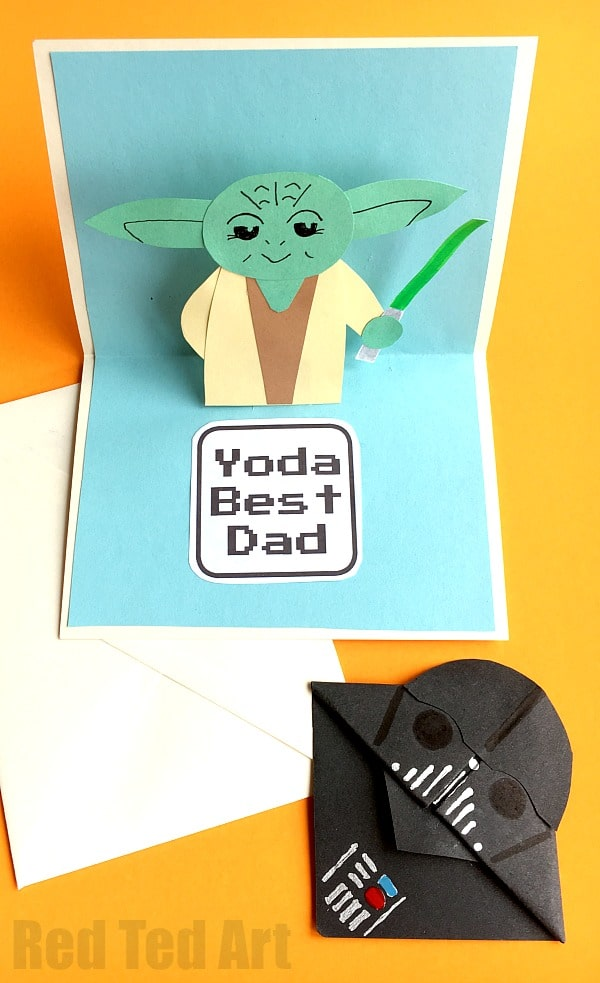 Pop Up Fathers Day Card Red Ted Arts Blog