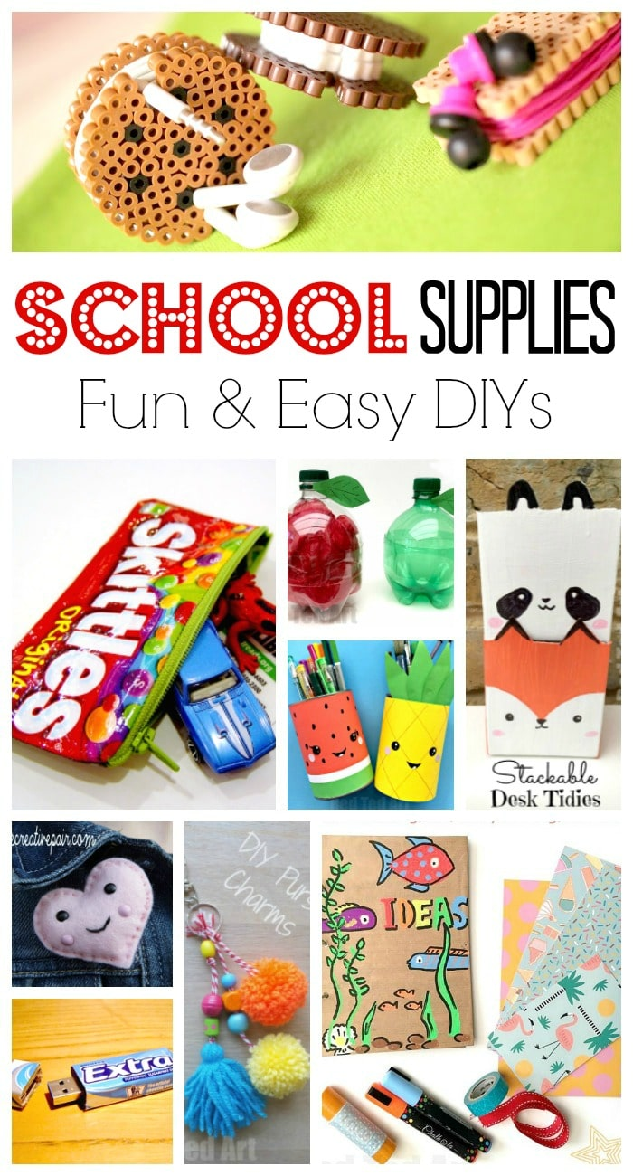School Supplies Diy Ideas Red Ted Art Make Crafting With Kids Easy Fun