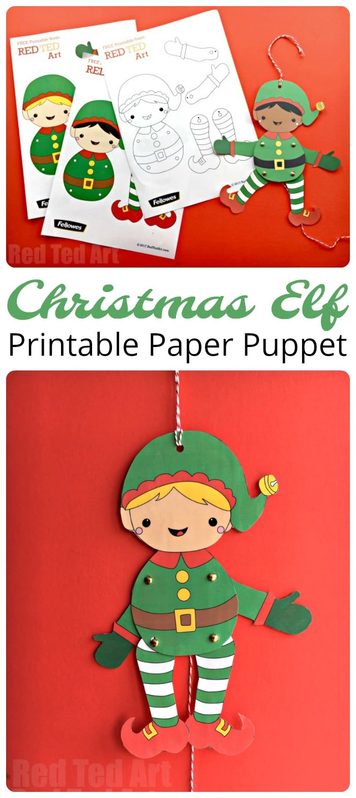 easy christmas elf paper