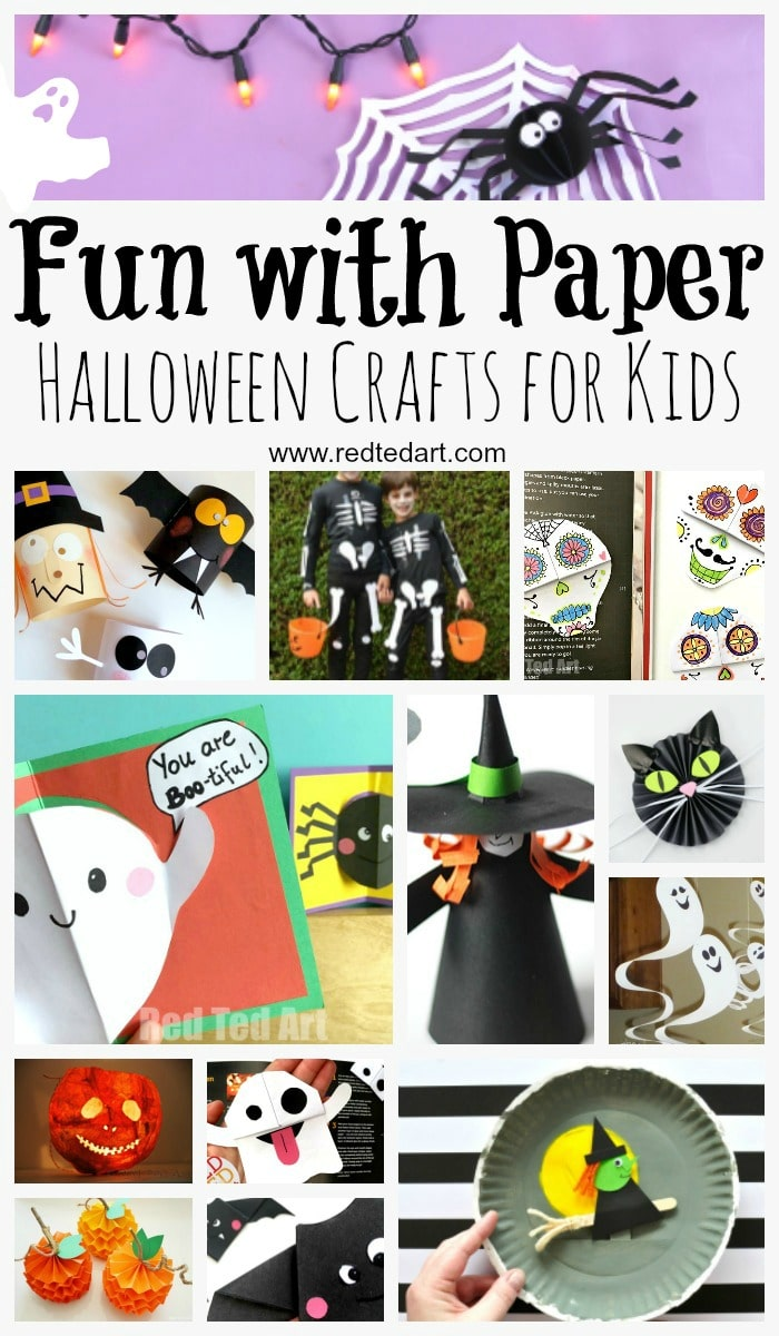 paper halloween crafts red