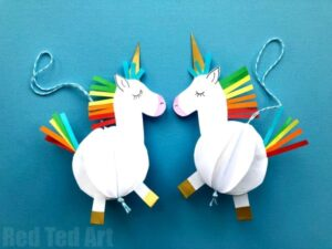 easy unicorn crafts red