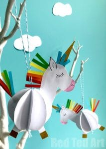Unicorn Paper Craft Red Ted Arts Blog